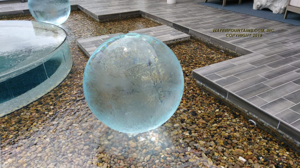 ACRYLIC SPHERE FOUNTAIN - 040