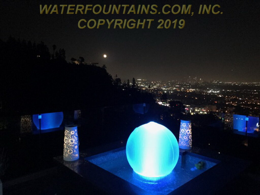 ACRYLIC SPHERE FOUNTAIN - 049