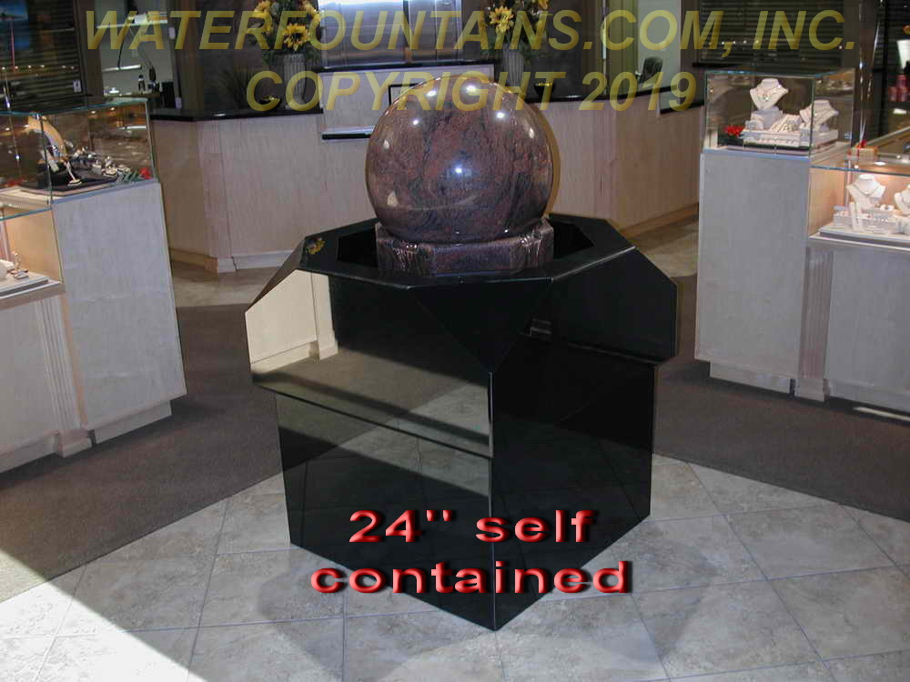 GRANITE SPHERE BALL WATER FOUNTAIN - 004