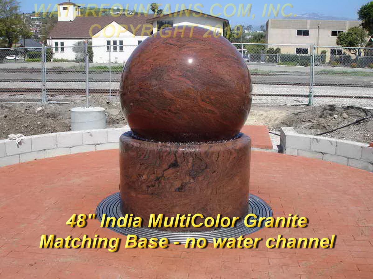 GRANITE SPHERE BALL WATER FOUNTAIN - 010
