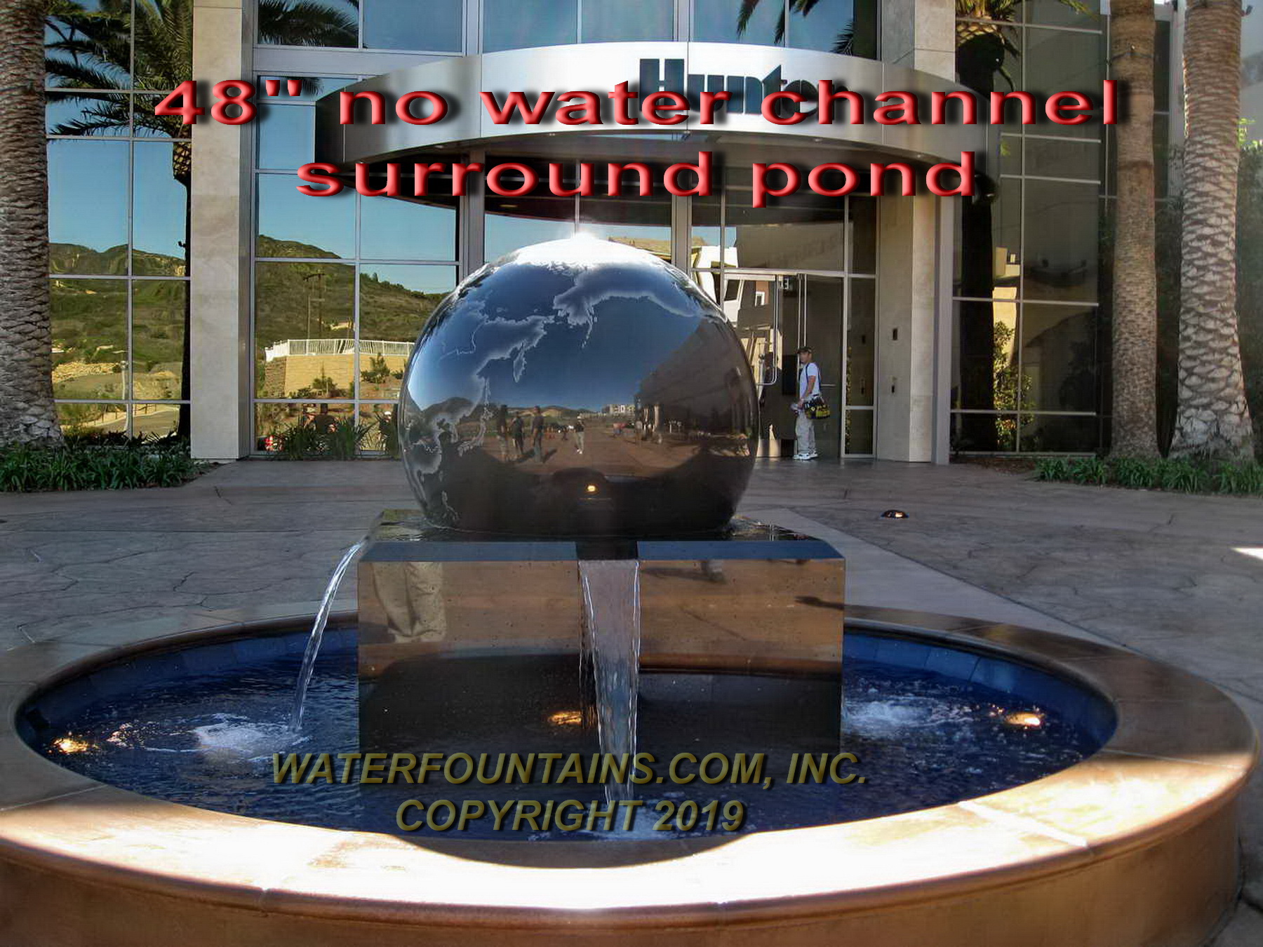 GRANITE SPHERE BALL WATER FOUNTAIN - 011