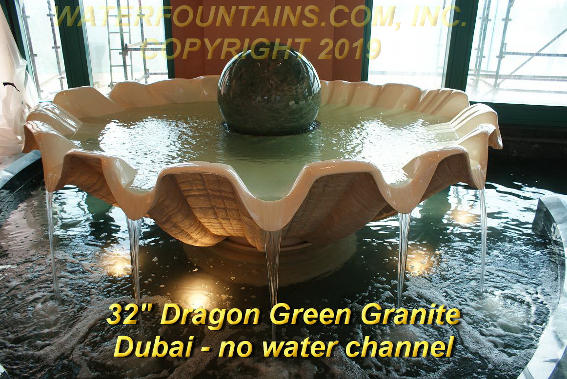 GRANITE SPHERE BALL WATER FOUNTAIN - 018