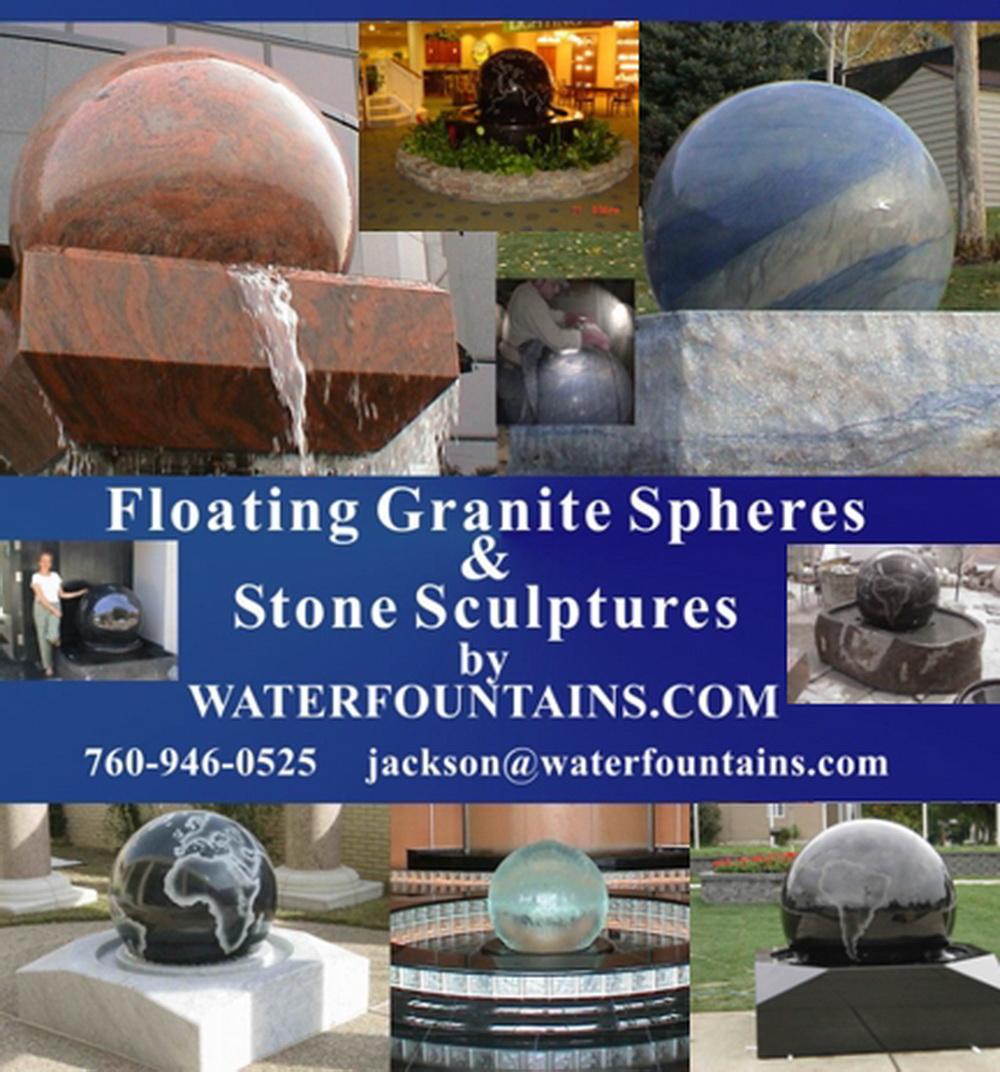 GRANITE SPHERE BALL WATER FOUNTAIN - 024