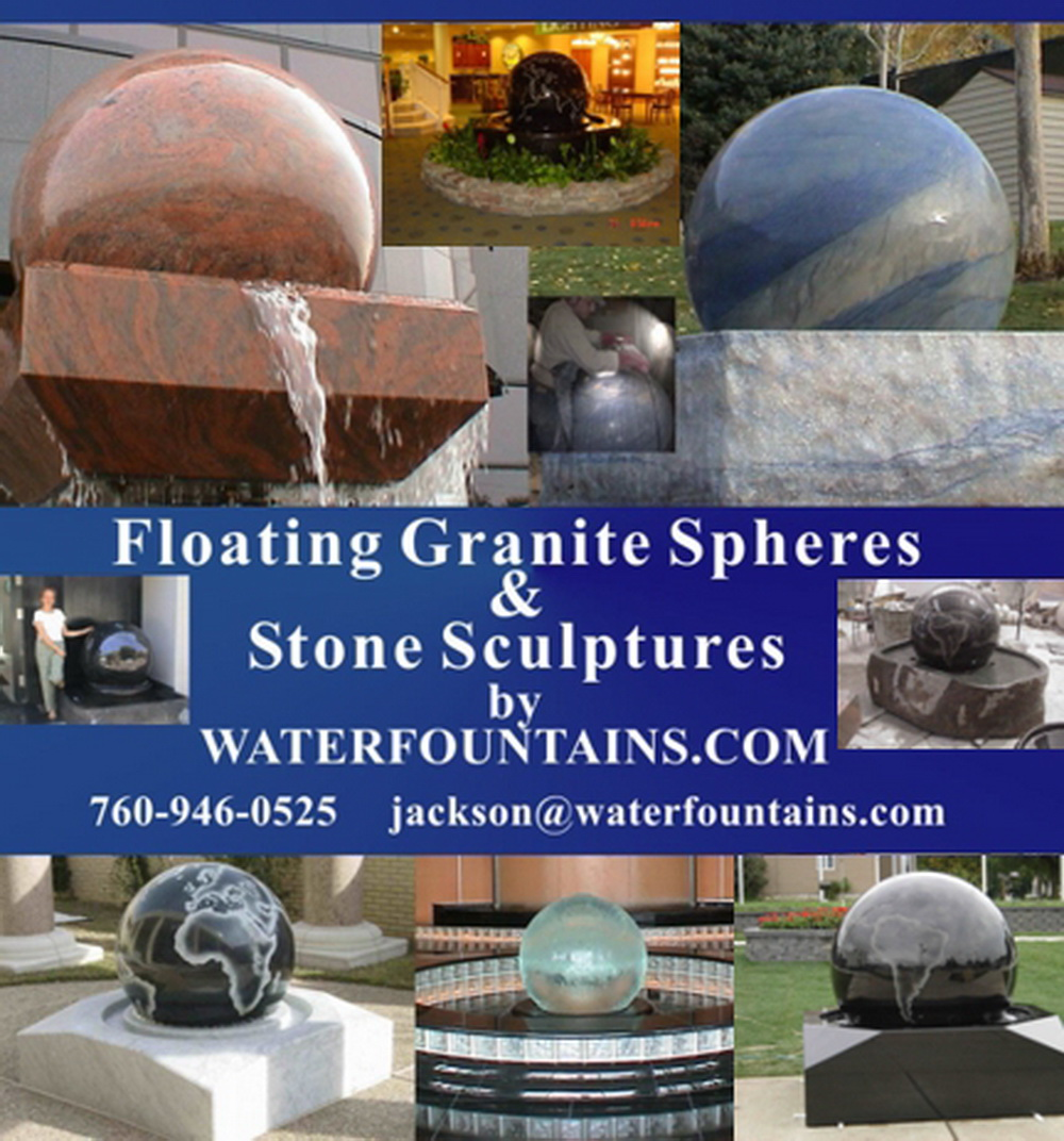 GRANITE SPHERE BALL WATER FOUNTAIN - 024