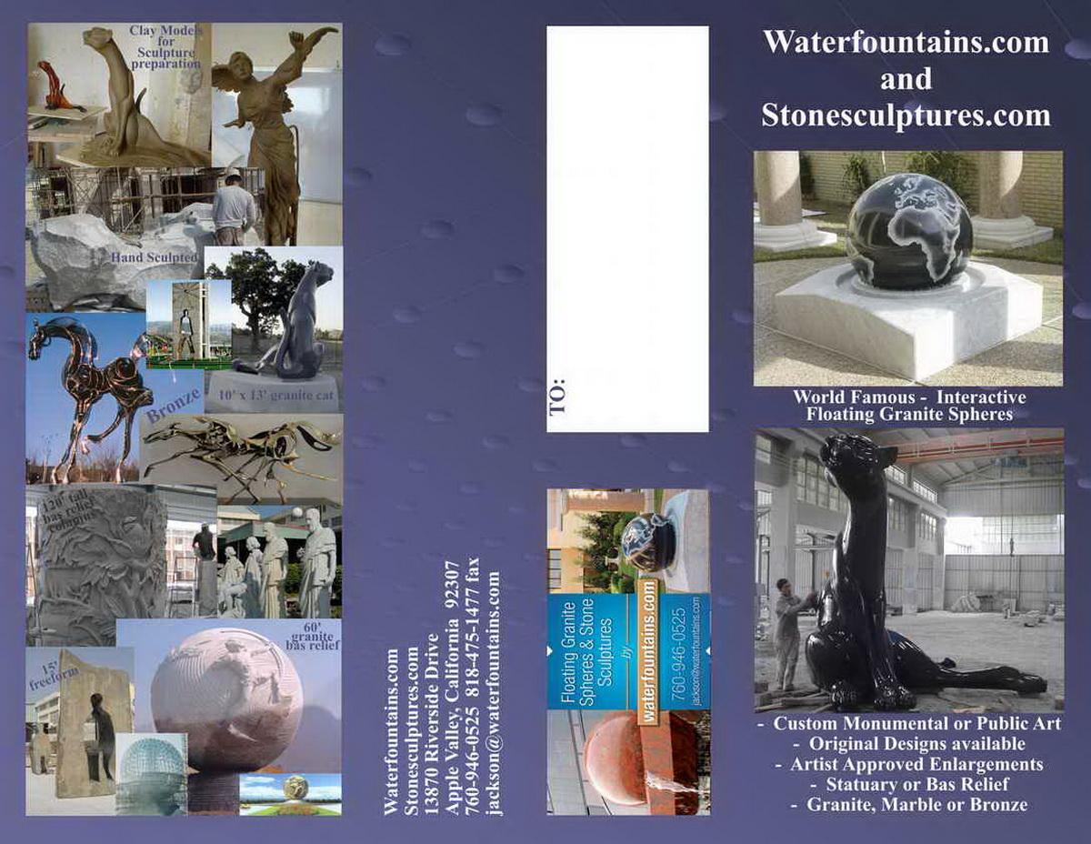 GRANITE SPHERE BALL WATER FOUNTAIN - 032