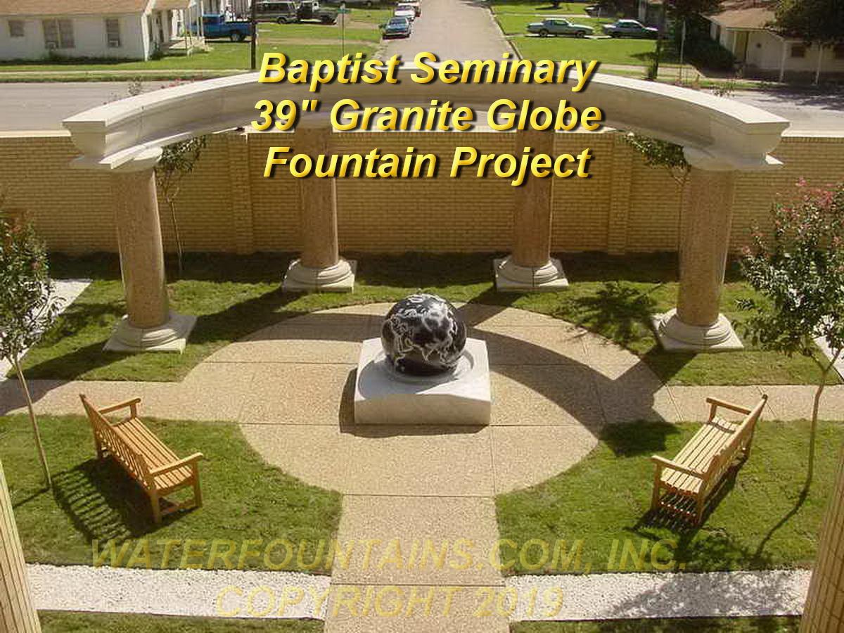 GRANITE SPHERE BALL WATER FOUNTAIN - 055