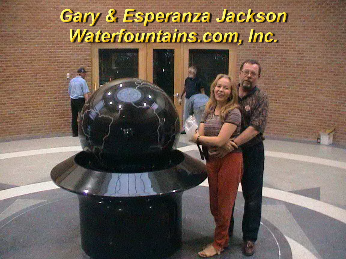 GRANITE SPHERE BALL WATER FOUNTAIN - 067