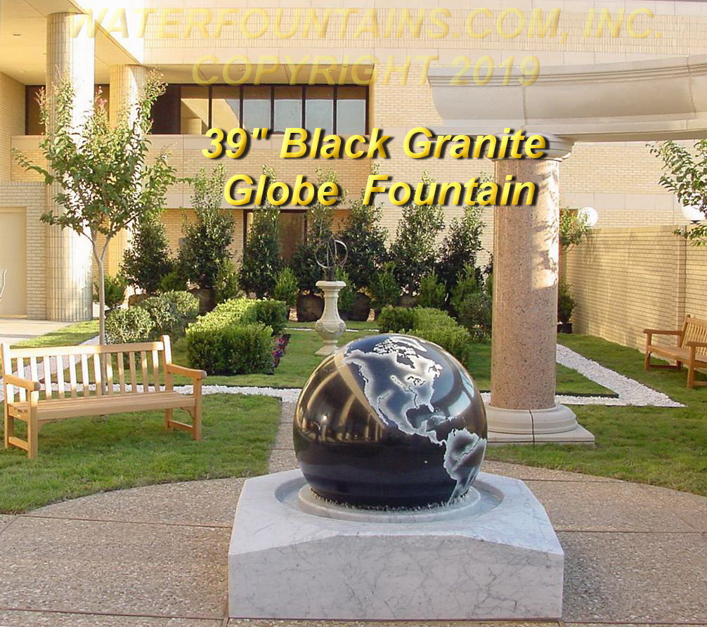 GRANITE SPHERE BALL WATER FOUNTAIN - 081
