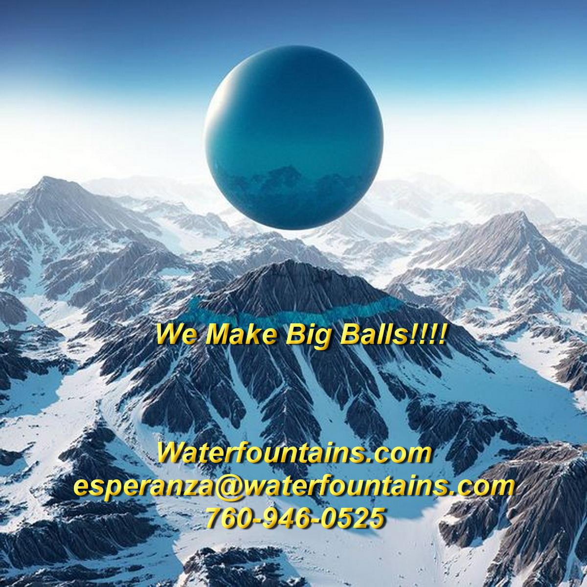 GRANITE SPHERE BALL WATER FOUNTAIN - 083