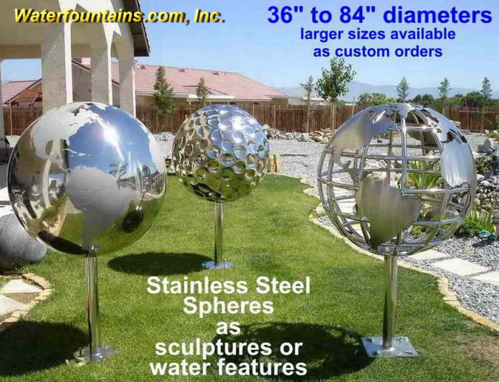 STAINLESS STEEL SPHERE BALL FOUNTAIN - 006