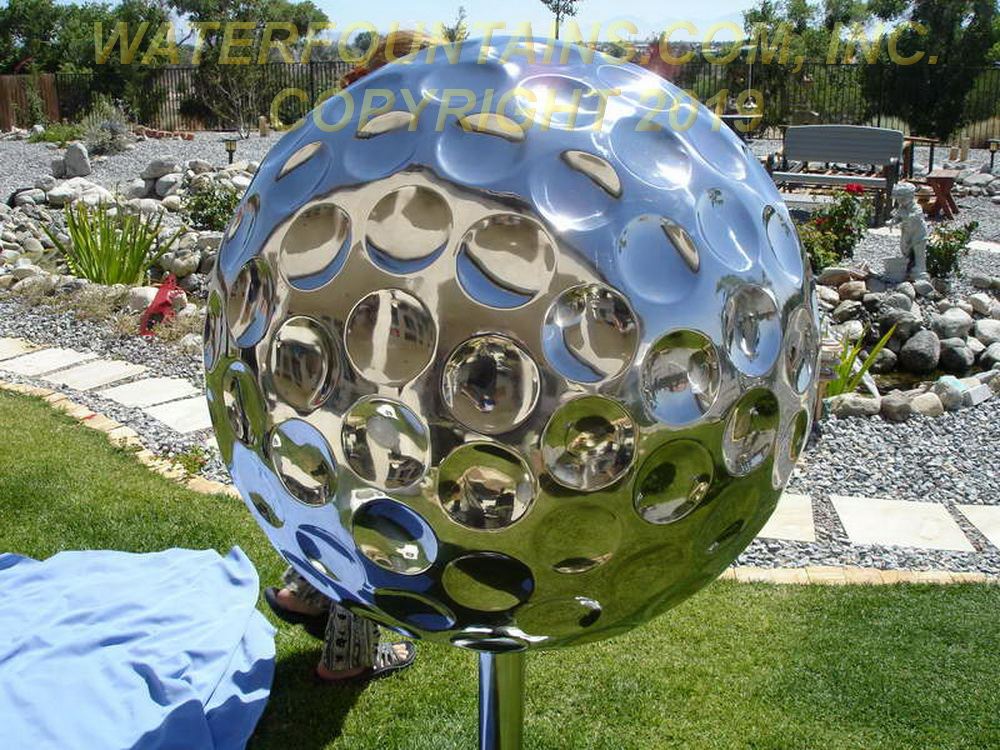 STAINLESS STEEL SPHERE BALL FOUNTAIN - 013