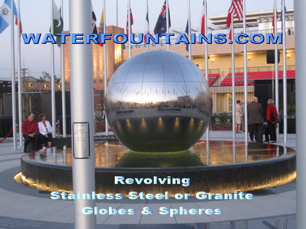 STAINLESS STEEL SPHERE BALL FOUNTAIN - 014