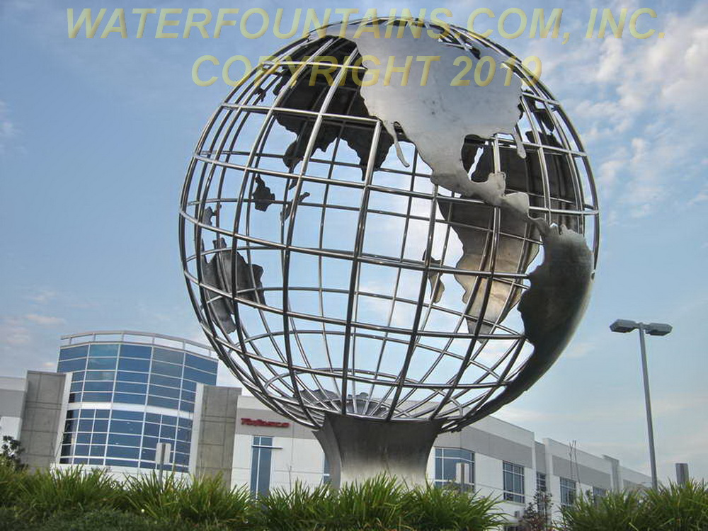 STAINLESS STEEL SPHERE BALL FOUNTAIN - 015