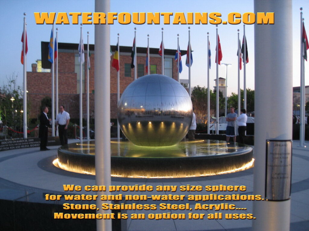STAINLESS STEEL SPHERE BALL FOUNTAIN - 022