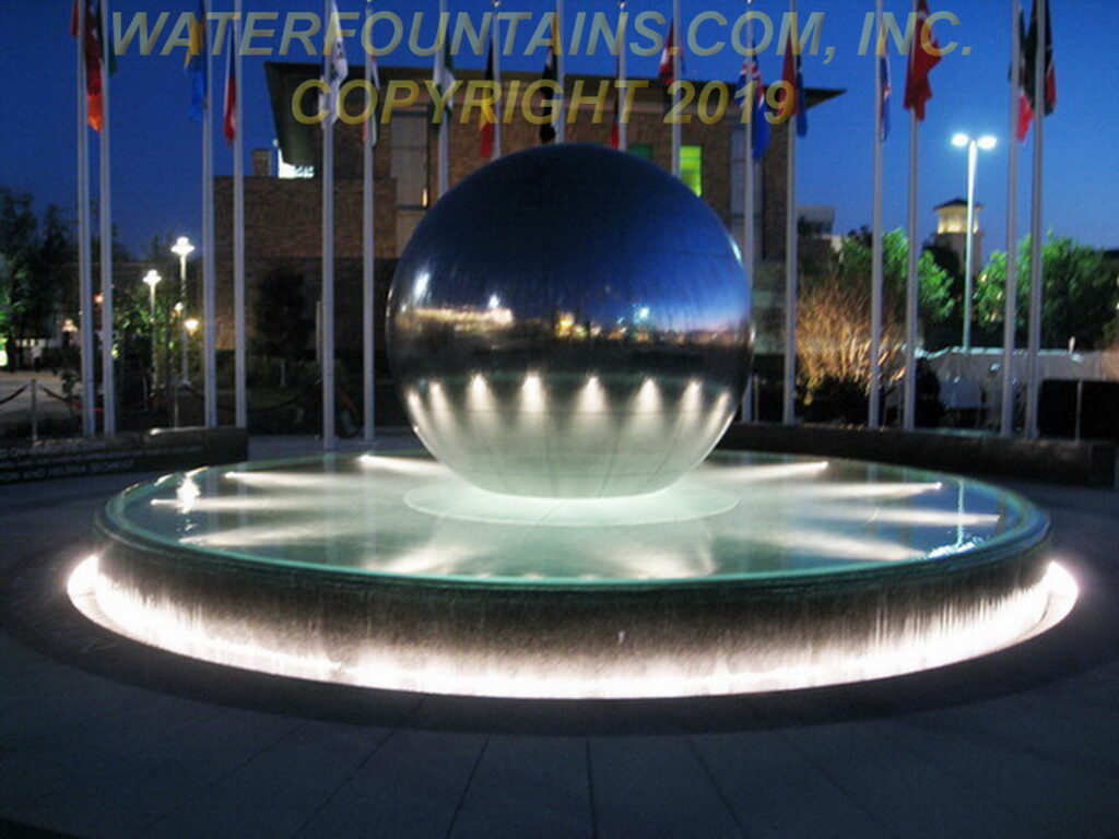 STAINLESS STEEL SPHERE BALL FOUNTAIN - 023