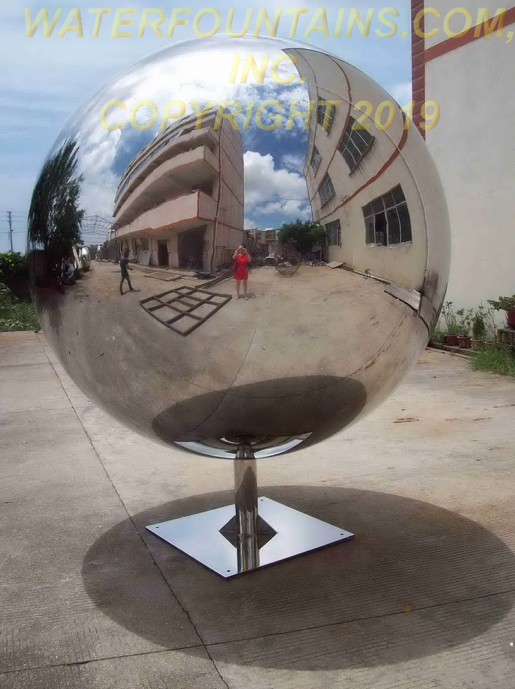 STAINLESS STEEL SPHERE BALL FOUNTAIN - 030