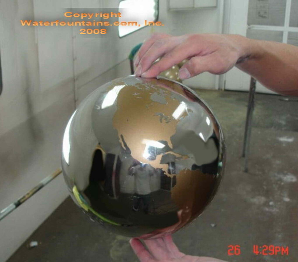 STAINLESS STEEL SPHERE BALL FOUNTAIN - 031