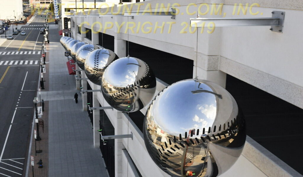 STAINLESS STEEL SPHERE BALL FOUNTAIN - 047