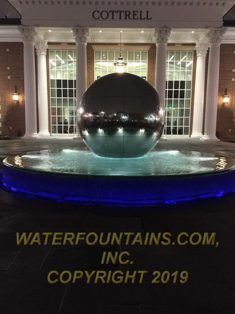 STAINLESS STEEL SPHERE BALL FOUNTAIN - 068