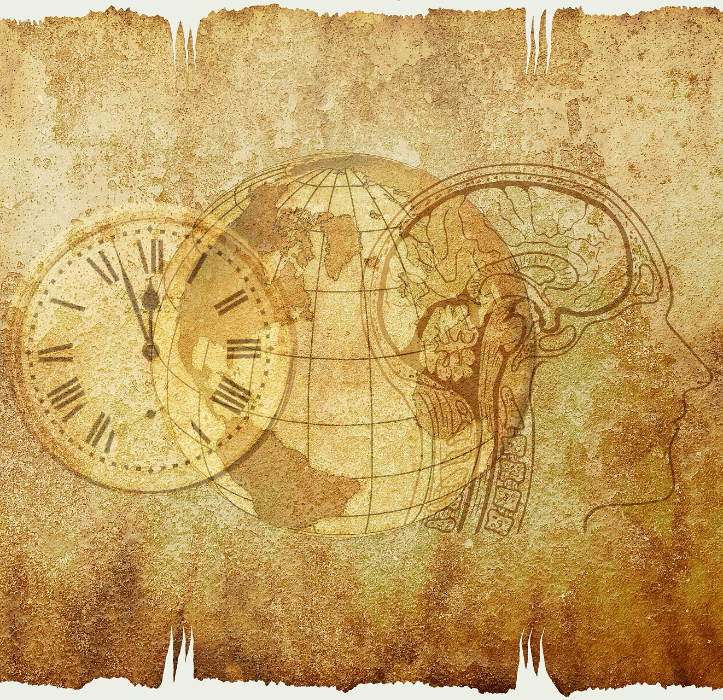 A brain, a globe, a clock - My Son's Brain in School