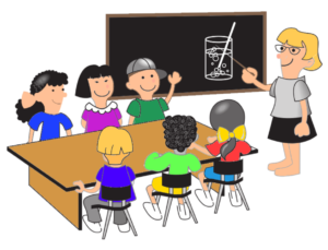 trauma-informed teacher connecting with class