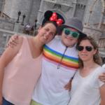three women on vacation at Disney Magic Kingdom