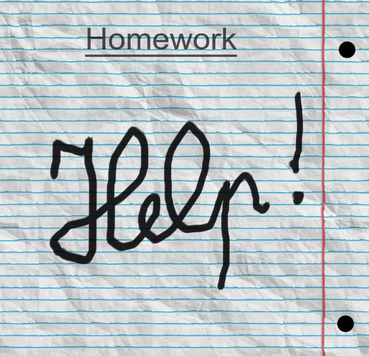 homework help crumpled paper