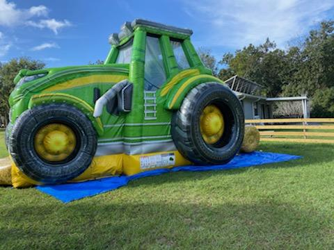 Tractor Bounce House and Slide