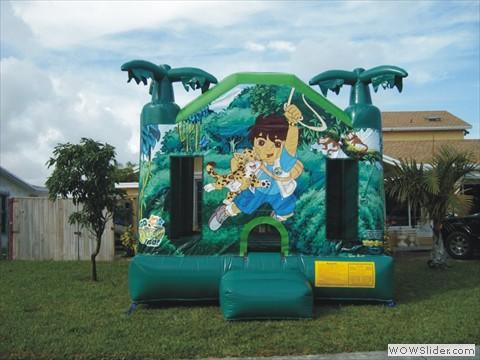 Diego Themed Bounce House