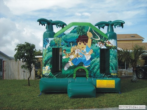 Diego Themed Bounce House
