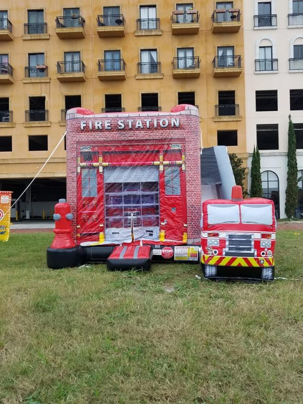 Fire truck bounce and slide combo