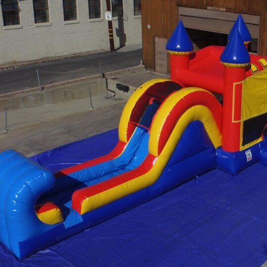 Ninja Bounce House and Slide Combo