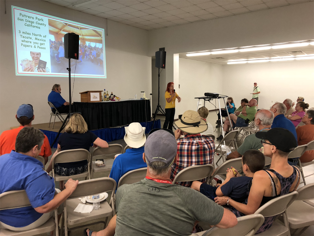 Wagonmaster Kassandra Dennis presents highlights for the 2019 trip at the Social.