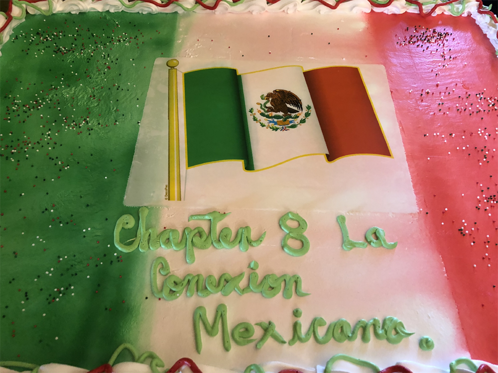 Not one bit of our Mexican flag tres leche sheet cake was left - everyone loved it!