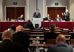 June 11, 2019: Senator Costa speaks at the Building Trades Conference.