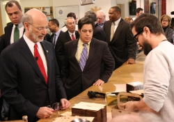 April 9, 2015: Senator Costa tour the TechShop with Governor Wolf on the Jobs that Pay Tour.April 9, 2015: Senator Costa visits and tours the TechShop with Governor Wolf on the Jobs that Pay Tour