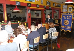 March 25, 2015: Senator Costa visits the Forest Hills Rotary.