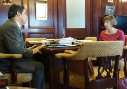 February 10, 2016: Senator Jay Costa meets with the New York Times