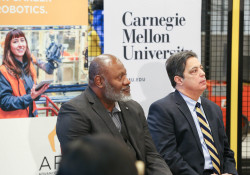 January 24, 2020: Sen. Costa joined Gov. Tom Wolf in Hazelwood to promote the governor's proposed $12.35 million investment in developing innovation in the region.