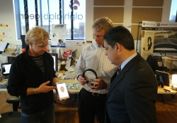 """Governor Wolf and Senator Jay Costa Tour AlphaLab Gear on """"Jobs that Pay"""" Tour :: January 7, 2016"""