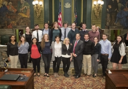 Senator Costa with Students from PITT