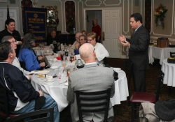 March 11, 2015: Senator Costa visits with the Churchill-Wilkins Rotary Club.