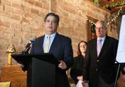 February 13, 2020: Sen. Costa joins state Rep. Dan Frankel in Squirrel Hill to call for expanded smoking ban in public spaces.