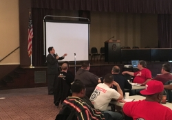 April 1, 2017: Senator Jay Costa attends the 2017 Teamsters Legislative Conference.