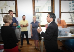 June 11, 2015: Senator Costa tours Thread International.