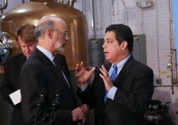 March 10, 2016: Senator Costa spoke at a press conference at Wiggle Whiskey in the Strip District where Governor Wolf spoke about the executive order he signed that increased the minimum wage for state employees under his jurisdiction.