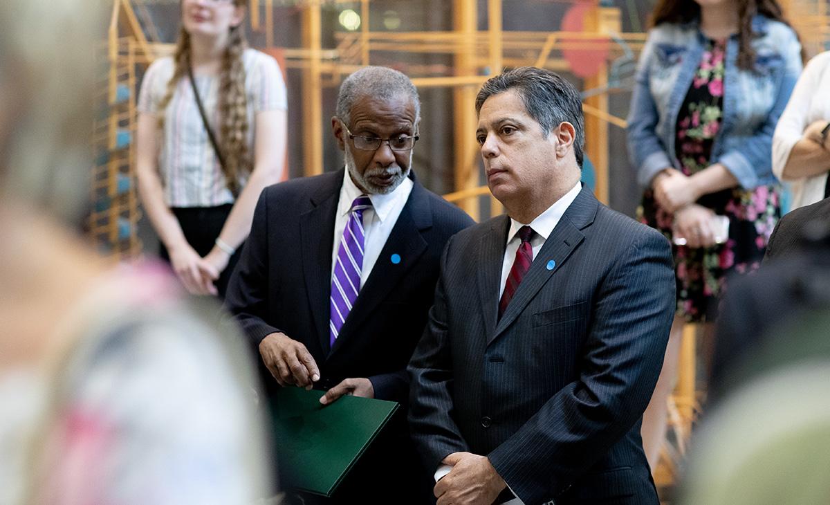 Senators Art Haywood and Jay Costa