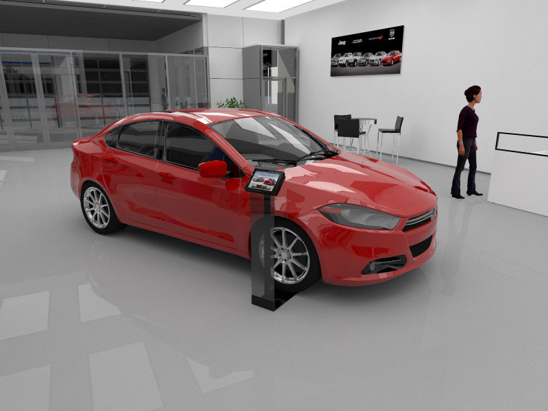 Arcylic Wheelstand Renderings