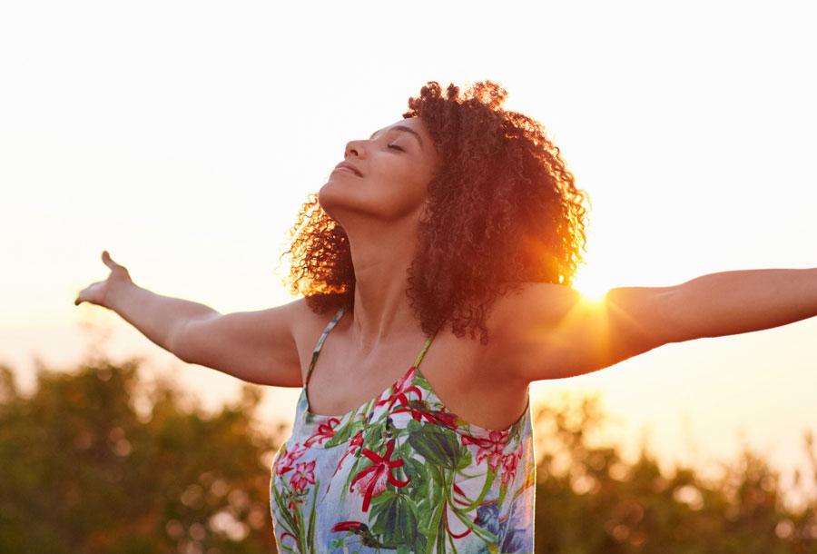 Confident Woman Enjoys the Outdoors