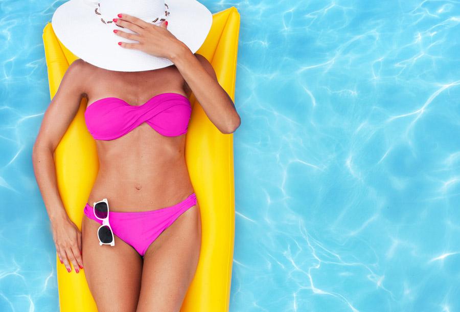 Woman in Pink Bikini